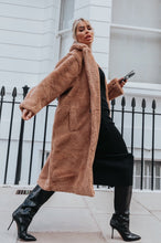 Load image into Gallery viewer, LILY Camel Teddy Coat