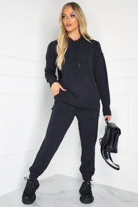 VIVIENNA Charcoal Knitted Lounge Set