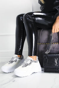 KALI White Snake Detail Chunky Trainers