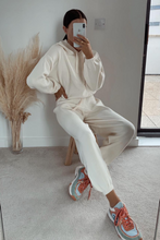 Load image into Gallery viewer, STORMY Cream Hooded Knit Loungewear Set