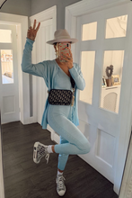 Load image into Gallery viewer, KIMMY Powder Blue Knitted 3-piece Loungewear set
