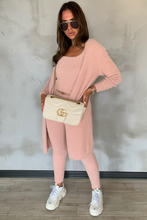 Load image into Gallery viewer, ROCHELLE Nude Jogger Soft Knit 3-piece Loungewear Set