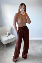 Load image into Gallery viewer, POPPY Taupe Ribbed Longsleeve Bodysuit