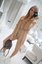 Load image into Gallery viewer, KIMMY Camel Knitted 3-piece Loungewear set