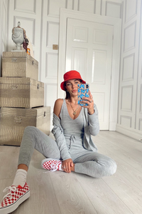 KIMMY Grey Knitted 3-piece Loungewear set