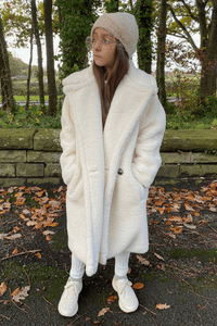 Mini LILY Cream Teddy Coat
