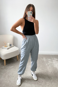 Macey Grey Luxury Pin Seam Jogger
