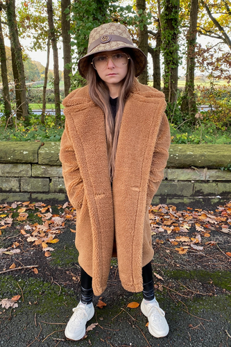 Mini LILY Camel Teddy Coat