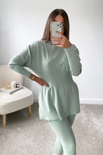 Load image into Gallery viewer, DOLA Sage Ribbed Long Sleeved Legging Loungewear Set