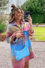 Load image into Gallery viewer, Kiara Multi Colour Knitted button up Long shacket
