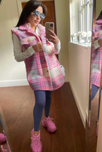 Load image into Gallery viewer, LIBBIE Pink Checkered Vest