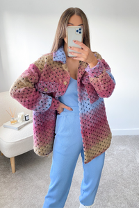 LOTTIE Multi Knitted button up Shacket