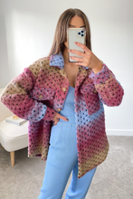 Load image into Gallery viewer, LOTTIE Multi Knitted button up Shacket