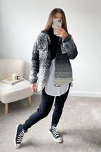 Load image into Gallery viewer, LOTTIE Black Knitted button up Shacket