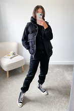 Load image into Gallery viewer, FAY Black 3 Piece Hoodie Jogger And Vest Set