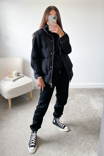FAY Black 3 Piece Hoodie Jogger And Vest Set