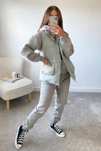 FAY Sage 3 Piece Hoodie Jogger And Vest Set