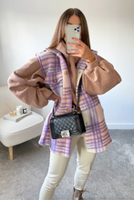 Load image into Gallery viewer, LIBBIE Lilac Checkered Vest