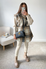 Load image into Gallery viewer, LIBBIE Camel Checkered Vest
