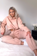 Load image into Gallery viewer, LARA Camel Hooded Crop Lounge Set