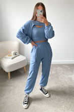 Load image into Gallery viewer, Piper Ocean Blue Pink 3 Piece Jogger set