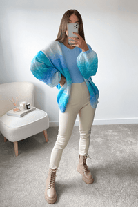 Annie Turquoise Knitted Cardigan