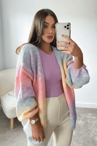 Annie Multi Colour Knitted Cardigan