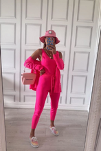 Load image into Gallery viewer, KIMMY Neon Pink Knitted 3-piece Loungewear set