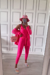 KIMMY Neon Pink Knitted 3-piece Loungewear set