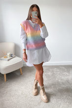 Load image into Gallery viewer, Adalyn Multi Colour Knitted Sleeveless Jumper