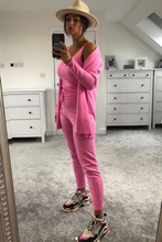 Load image into Gallery viewer, KIMMY Pink Knitted 3-piece Loungewear set