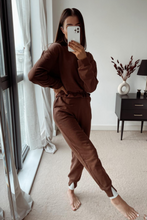 Load image into Gallery viewer, NICKY Brown Frill Hem Tracksuit