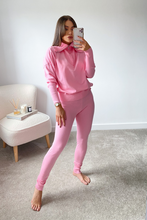 Load image into Gallery viewer, REMI Pink High Zip Neck Loungewear Set