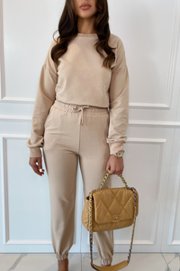 ROMEO Camel Long Sleeve Basic Loungewear Set
