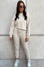 Load image into Gallery viewer, MEL Beige Basic Joggers