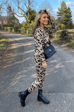 Load image into Gallery viewer, Elise Leopard print 3 piece loungewear set