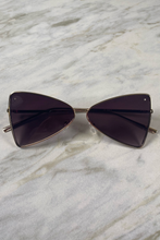 Load image into Gallery viewer, Marley Gold Cat Eye Frame Sunglasses