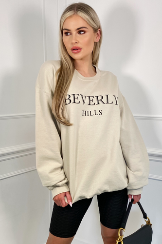 Beverly Hills Stone Oversized Sweater