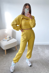 PIPER yellow 3 Piece Jogger set