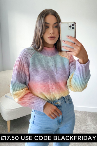 KIA Multi Braid Knit Detail Jumper