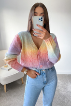 Load image into Gallery viewer, Emmie Multi colour Cable Knit Button Up Cardigan
