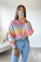 Load image into Gallery viewer, Nellie Multi Colour Cable Knit  Longsleeve jumper