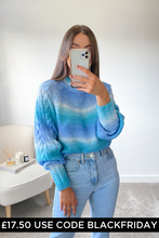 Load image into Gallery viewer, Nellie Turquoise Cable Knit  Longsleeve jumper