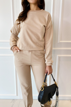 Load image into Gallery viewer, ROMEO Camel Long Sleeve Basic Loungewear Set