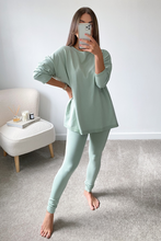 Load image into Gallery viewer, IEVA Sage Longsleeve Split Side Loungewear set