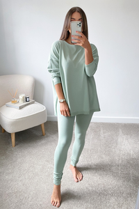 IEVA Sage Longsleeve Split Side Loungewear set