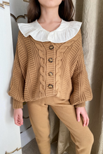 Load image into Gallery viewer, Mini CAPRI Chocolate Cable Knit Cardigan And Joggers Set