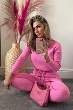 Load image into Gallery viewer, KELSEY Pink High Neck Fitted Lounge Set
