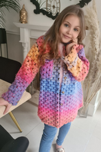 Load image into Gallery viewer, Mini Kiara Multi Colour Knitted Shacket