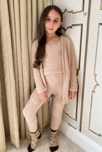 Load image into Gallery viewer, Mini Rochelle Stone soft knit 3-piece loungewear set
